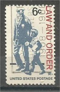 UNITED STATES, 1968, used 6c Law and Order Scott 1343