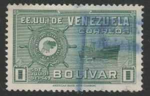 Venezuela 1948-50 1b used South America A4P53F64