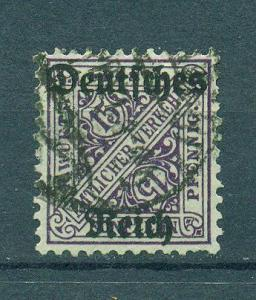 Wurttemberg sc# O178 (1) used cat value $3.25