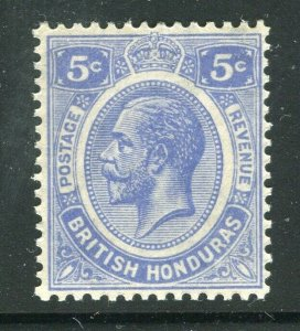 BRITISH HONDURAS; 1922 early GV issue fine Mint hinged Shade of 5c. value