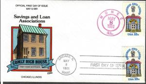 US Collins FDC SC#1911 Comly Rich House