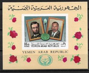 1968 Yemen 256Ka Liberty Martyrs 16b MNH Imperf. S/S