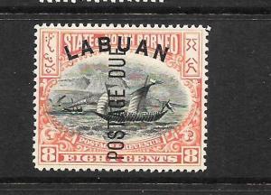 LABUAN   1901  8c POSTAGE  DUE  MLH  SG D6B