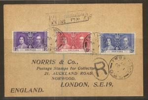 Grenada 1937 Coronation Cover