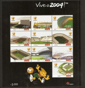 Portugal 2003 Scott 2603 Soccer Stadiums for 2004 Championships MNH