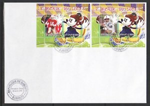 Djibouti, 2008 Cinderella issue. Disney & American Football, First day cover. ^