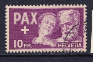 Switzerland a 1945 Peace 10Fr Fine used