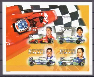 Mali. 1996. 1819B-22B. Motorsport. MNH.