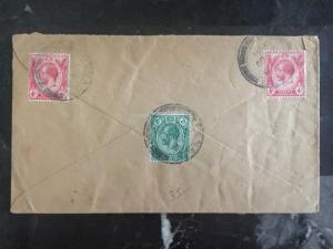 1921 Penang Straits Settlements Malaya Cover To Lucern Switzerland
