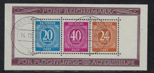 Germany AM Post Scott # B294, used, s/s