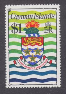 Cayman Islands Sc 347C MNH. 1980 $1 Coat of Arms, VF. Turtle