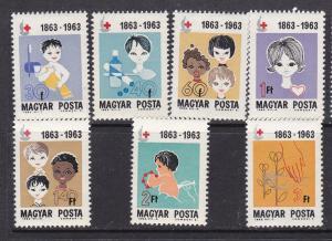 Hungary MNH 1532-8 Red Cross 1963