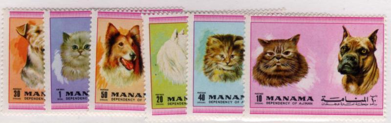 Manama 1972 Cats & Dogs (107-1)