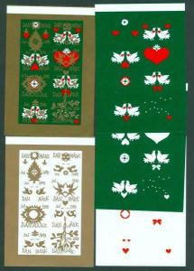 Denmark Christmas Seal 1989 Set Booklet Sheets Scale/Proof,Mnh. Imperforated.