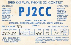 8815 Amateur Radio QSL Card  CURACAO NHETERLANDS ANTILLES
