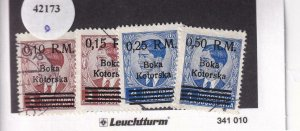 Kotor: German Occupation: Mi #7-10, Used (42173)