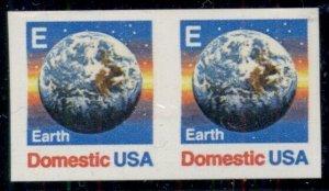 US #2279a (25¢) Earth Coil IMPERF PAIR, og, NH, VF, Scott $60.00