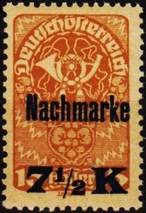 Austria.1921 7 1/2k on 15h S.G.D451 Unmounted Mint