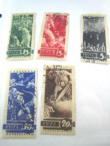 RUSSIA - Scott # 546 - 550  Used   (NSR29)