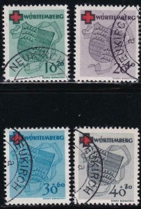 Germany 1949 SC 8NB1-8NB4 Used