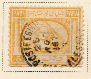 Egypt 1867 Early Issue Fine Used 5p. 324037
