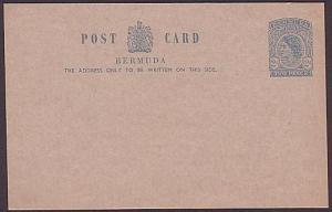 BERMUDA QE 2d postcard fine unused.........................................35355