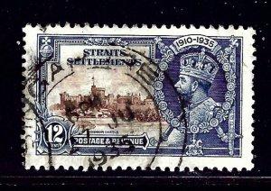 Straits Settlements 215 Used 1935 KGV Silver Jubilee (ap1051)