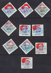 Romania   #C151-C160  canceled 1964   astronauts and Russian and American flags