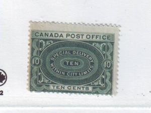 Canada ScE1iiv deep blue green Special Delivery stamp mint