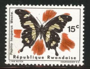 RWANDA Scott  115 Butterfly stamp