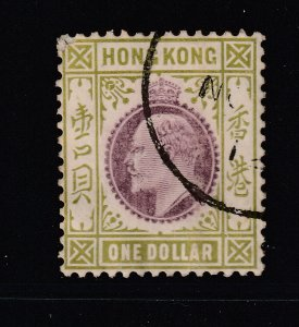 Hong Kong a used $1 Edward multi crown watermark