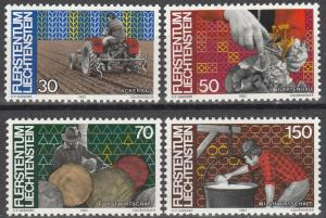 Liechtenstein #740-43  MNH   (S5881)
