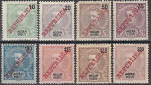 Mozambique #101, 103, 105-10  F-VF Unused CV $12.50  (A16595)