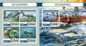 Guinea 2016 whales marine life  klb+s/s MNH