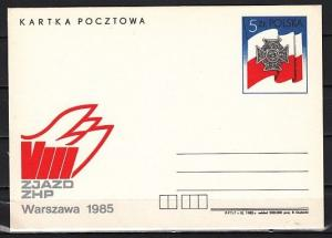 Poland, 1985 issue. Scouting Postal Card. ^