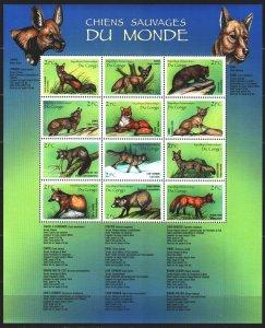 Kinshasa. 2000. Small sheet 1451-62. African predators, fauna. MNH.