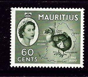 Mauritius 261 Hinged 1954 issue