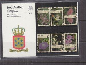 NETHERLANDS ANTILLES,1985 Flowers set of 6, Folder 16