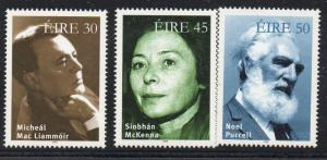 Ireland Sc 1165-67 1999 Irish Actors stamp set mint NH
