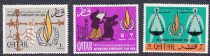 Qatar 128-130 Mint OG 1968 Human Rights