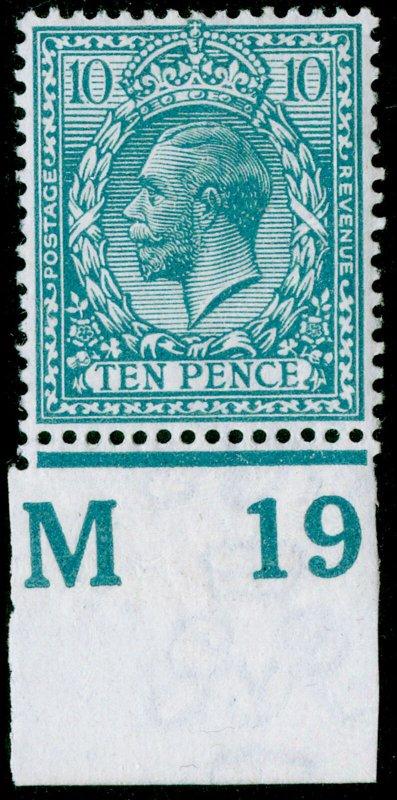 SG394 SPEC N31(5), 10d pale greenish blue, LH MINT. Cat £28. CONTROL M19.