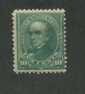 1894 United States Postage Stamp #258 Mint Hinged Fine Original Gum