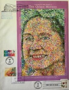 HNLP Hideaki Nakano 3558 Happy Birthday Mustique Queen Mother Canada Photomosaic