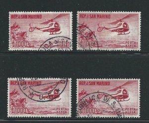 1961 San Marino, Pa N° 138 1.000 Lire Carminio Used