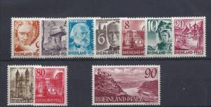 Germany (Rhine-Palatinate), 6N30-6N38,Occupation Stamps Singles,**MNH**,(LL2019)