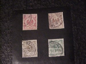 1889 REICHSPOST STAMPS 3,5,10,50 Pf  USED