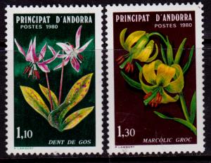 French Andorra 281-282 MNH - Flowers (1980)