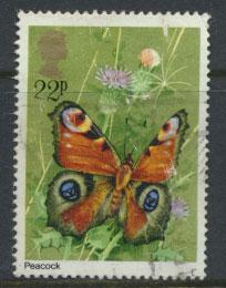Great Britain SG 1153 - Used - Butterflies