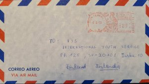 A) 1972, GUATEMALA, METER STAMP, COVER SHIPPED TO FINLAND, AIRMAIL, XF