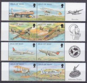1997 Isle of Man 722-729Paar+Tab Airplanes 7,50 €